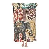 Toalla de playa Suzani Elefante de secado rápido, grande,...