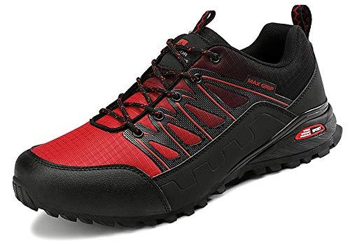 Eagsouni Laufschuhe Herren Damen Traillaufschuhe Sportschuhe Turnschuhe Sneakers Schuhe für Outdoor Fitnessschuhe Joggingschuhe Straßenlaufschuhe, Rot C, 37 EU