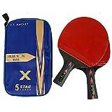 HEEYEE Raquetas de Tenis de Mesa de 5 Estrellas, Raquetas de Ping Pong,...