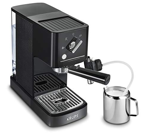 Krups Calvi Latte XP345810 cafetera espresso con accesorio para capucchino,15