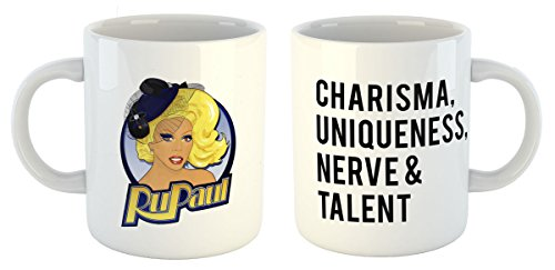 RuPaul Mug - Charisma, Uniqueness, Nerve & Talent - The Perfect RuPaul's Drag Race Gift