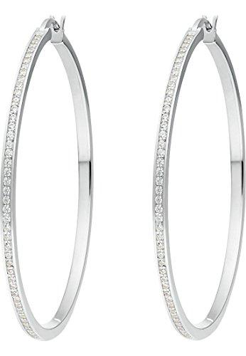 JETTE Silver Damen-Creolen 925er Silber 116 Zirkonia One Size 87096742