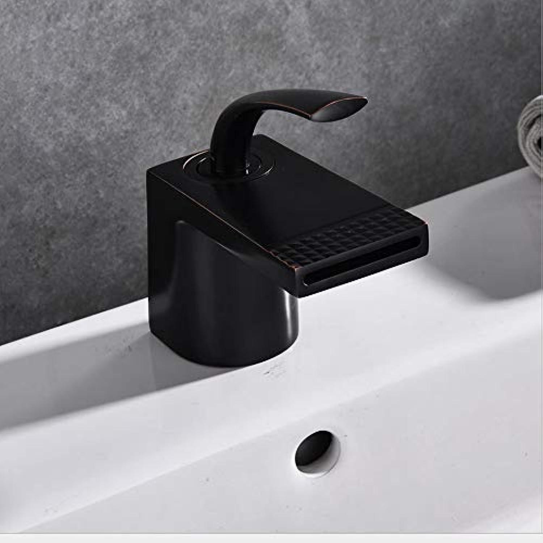 Wasserhahn schwarz Becken Wasserhahn europischen Retro-Bad Wasserhahn Waschbecken heien und kalten Wasserfall Wasserhahn unter Aufsatzbecken Wasserhahn