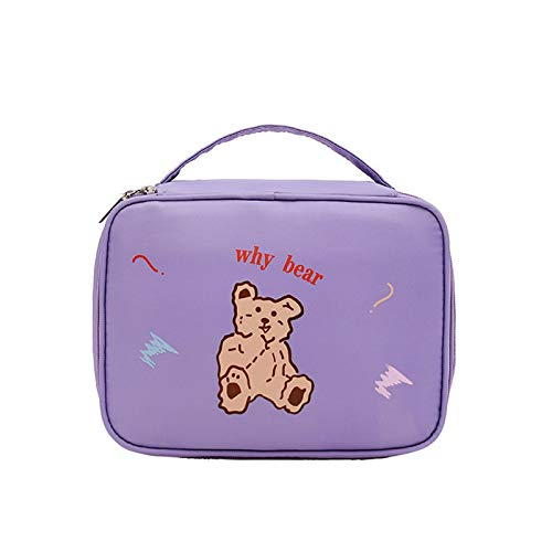 Froid Bolsa de aseo para maquillaje, bolsa de cosméticos, de dibujos animados, impermeable, organizador para mujeres, bolsas de aseo para viajes, color blanco, Purple (Morado) - ODEO3AQ6SE