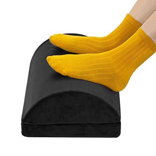MerLerner Foot Rest Under Desk Adjustable Non-Slip Footrest with 2 Optional Covers Premium Velvet Soft Memory Foam Foot Stool Ergonomic Cushions Pillow for Desk, Office, Lumbar, Back, Knee Pain