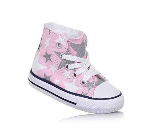 CONVERSE - Rosa Sneaker Chuck Taylor All Star mit Schnürsenkeln aus Stoff mit einem Muster mit weißen, Mädchen-19