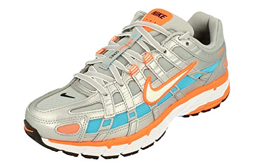 Nike Mujeres P-6000 Running Trainers CT3751 Sneakers Zapatos (UK 3.5 US 6 EU 36.5, Metallic Silver White 001)