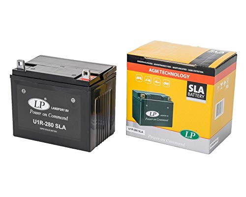 LANDPORT U1R-280 SLA Batterie 12V 24aH für Rasenmäher, Rasentraktor, Aufsitzmäher [inkl. 7.50 Batteriepfand]