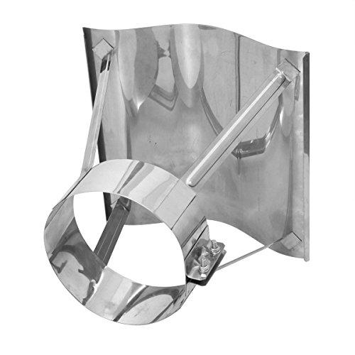 Schornsteinabdeckung Kaminabdeckung Edelstahl, Kaminhaube Regenhaube KLIPPS (120mm)