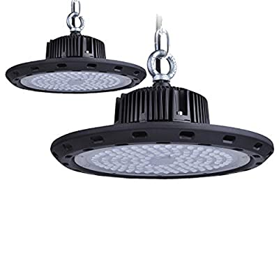 UFO High Bay Light, Motent SMD 3030 LED 6000K Daylight White IP65 Waterproof Industrial Grade Warehouse Highbay Hanging Lamp 400W HID/HPS Equivalent LED Bulb Lighting Fixture Replacement - UL Listed