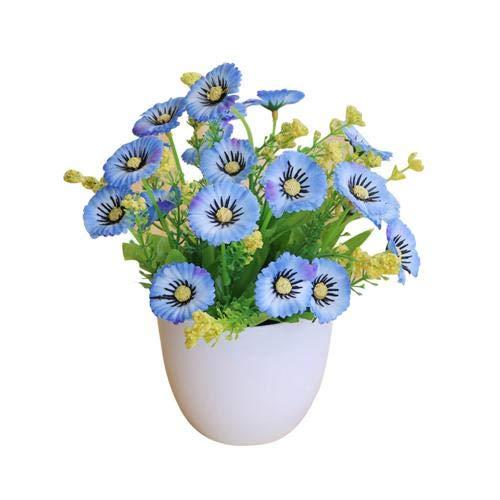 Künstliche gefälschte Blumen, künstliche Blumenpflanze Topf Bonsai, mit grünen Blättern echte Berührung künstliche Blumen, Heimtisch Büro Hochzeitsdekoration Desktop Dekor (1 pc) Realistische