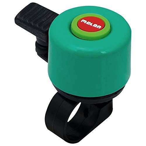 Melon Bellino Mini Bell Fahrrad Klingel 35mm Bell Design Laut Lenker Befestigung 22,2mm, MBE, Design Rainbow Grün
