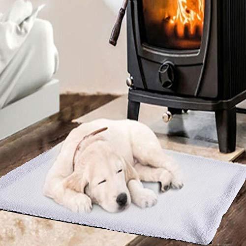 Manta de coche calefactable para perros y gatos, con aislamiento automático, suave...