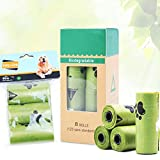 LIZONGFQ Hundepoop Taschen Biodegradable aus Mais Stärke Kotbeutel Extra Large Extra Dicke Leak Proof Hund Poo Beutel (120Bags ohne Spender)