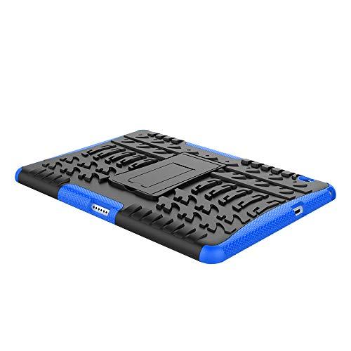 XITODA Huawei MediaPad T3 10 Hülle, Armor Style Hybrid PC + TPU Silikon Hülle Mit Stand Schutzhülle für Huawei MediaPad T3 10 (9,6 Zoll) Tablet Case Cover Tasche - Dunkelblau - 5