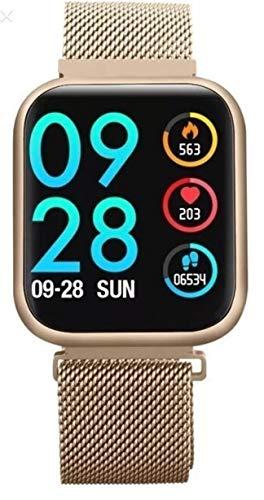 Relógio Smartwatch P80 Dourado Tela 100% Touch Dourado com 2 Pulseiras Inclusas