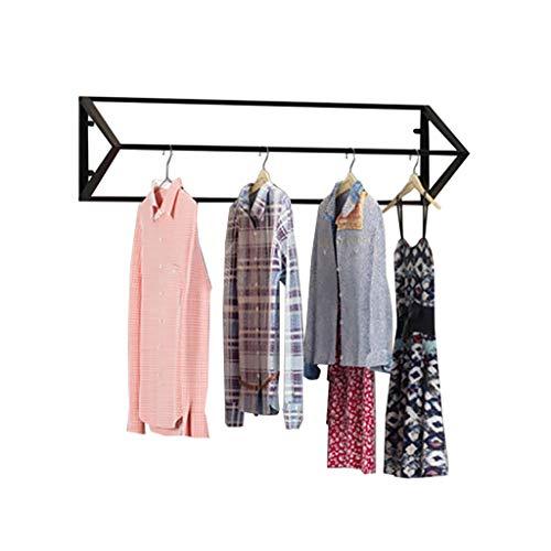 Cdbl-Iron kleding planken IJzeren Kleding Shop Hangers Display Stand Opknoping Kleding Rek Op De Muur Driehoekige Wandplank Kledingrek 3 Maten (Maat: 100 × 40cm) Kledinghaak