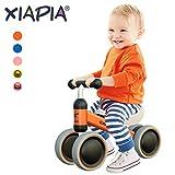 XIAPIA Bicicleta sin Pedales 10-24 Meses, Bici sin Pedales Niño Bebes 1 Año, Triciclos Bebes Regalo 1 año, Azul de Aniversario 1 Años Bicicleta Bebé Equilibrio (Naranja)