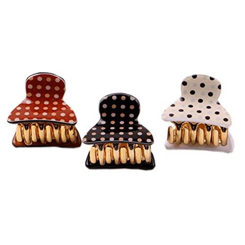 Ensemble de 5 mini pince cheveux / épingle à cheveux Polka Dots