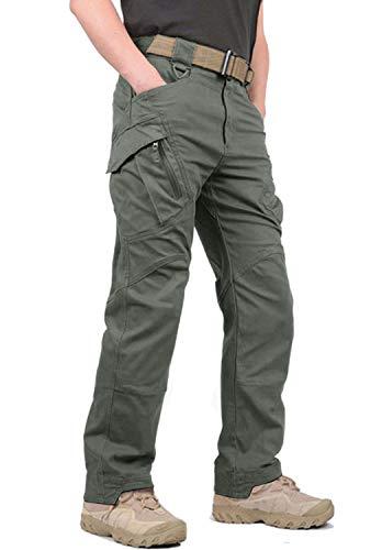 KEFITEVD Pantalones Cargo Hombres Pantalones de Trabajo Hombres Pantalones al Aire Libre Pantalones tácticos Pantalones Paintball Airsoft Oliva 34