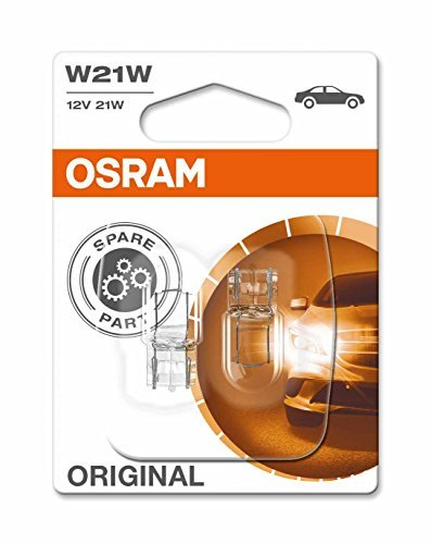 OSRAM ORIGINAL W21W Halogen, Nebelschluss-/Brems-/Schluss- und Rückfahrlicht, Blinker hinten /vorne, 7505-02B, 12V PKW, Doppelblister (2 Stück)