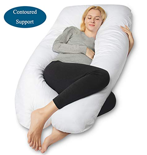QUEEN ROSE Pregnancy Body Pillow, U-Shaped Maternity Pillow,Full Body Support Pillow with...