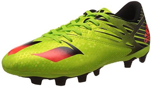 adidas Herren Messi 15.4 Fxg S74698 Fußballschuhe, Grün (Semi Solar Slime/Solar Red/Core Black), 45 1/3 EU