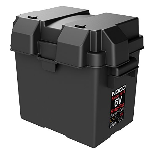 NOCO HM306BKS Single 6V Snap-Top Battery Box For Marine, RV, Camper And Trailer Batteries