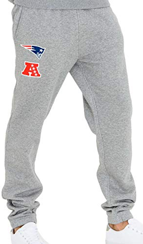 New Era - NFL New England Patriots Team Apparel Jogginghose - Grau Größe S, Farbe Grau