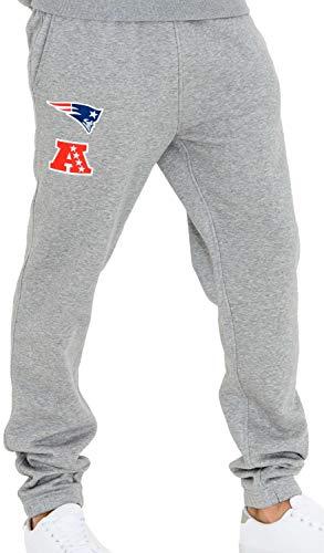 New Era - NFL New England Patriots Team Apparel Jogginghose - Grau Größe M, Farbe Grau