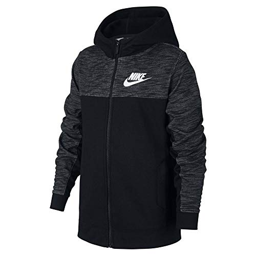 Nike Jungen B NSW Hoodie FZ Advance Weste, Schwarz (Schwarz/Weiß), XS