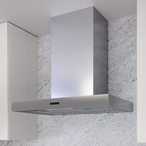 Miseno MH00830BS Miseno MH00830AS 290 - 750 CFM 30 Inch Wide Wall Mounted Range Hood with LED Strip Lighting and Capacitive Controls