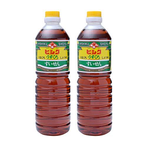 [藤安醸造(ヒシク)] 醤油 すいせん うすくち 1L×2本 うすくちの高級しょうゆ