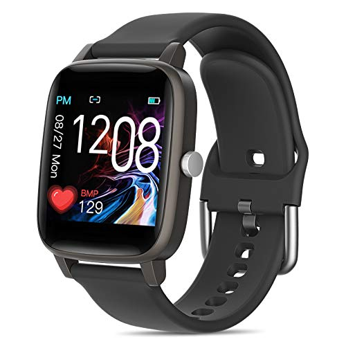 Smart Watch,T98 ,Body Temperature Measurement ,IP67 Waterproof,Sports Data, Calorie Monitoring,Smart Sports Bracelet,Heart Rate ,Blood Pressure, Blood Oxygen (Black)