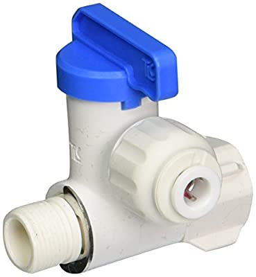 """3/8"""" Angle Stop Adapter Ball Valve with 1/4"""" Quick Connect Fitting - Reverse For Osmosis & Drinking Water Filters from Abundant Flow Water"""