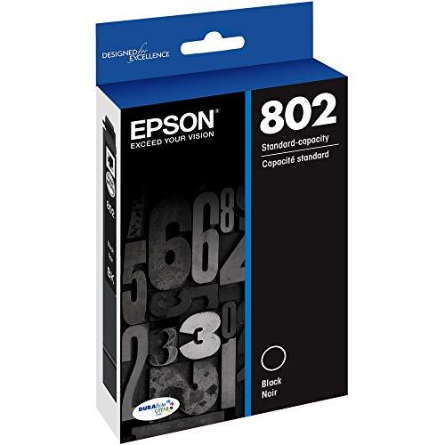 EPSON T802 DURABrite Ultra Ink Standard Capacity Black Cartridge (T802120-S) for select Epson WorkForce Pro Printers