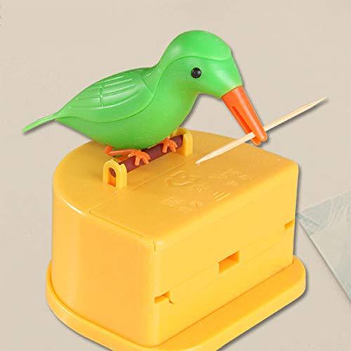 JEANGO Zahnstocher Spender Halter Specht, kreativer Zahnstocherhalter aus umweltfreundlichen Materialien, geeignet für Zuhause, Büro, Hotel