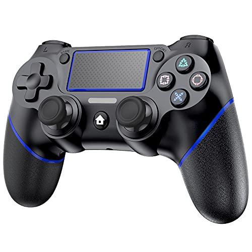 P4 コントローラー Cozylife ワイヤレス コントローラー Bluetooth接続 600mAHバッテリー 二重振動 Bluetooth 無線 遅延なし 高耐久ボタン ゲームパット搭載 充電ケーブル 付き 日本語取扱説明書付き P4/P3/PC対応
