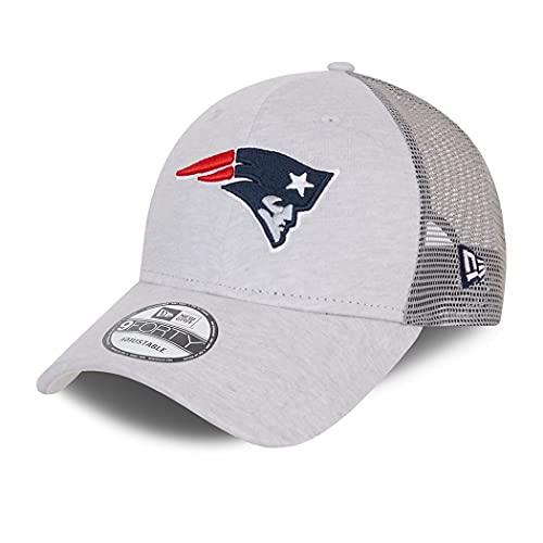 New Era England Patriots Home Field Beige 9Forty Trucker Strapback Cap - One-Size