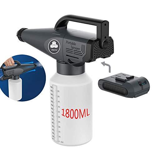 SHUGUANG 1,8 l elektrische Akku-Nebelmaschine, ULV elektrostatisch Zerstäubungs Nebel Sprühgerät, Angetrieben durch Batterie zur Desinfektion, Wiederaufladbare Nebelmaschine für Home School