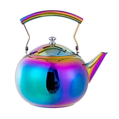 AMOMGard Teekanne mit abnehmbare Siebeinsatz Edelstahl Teebereiter Teekessel Tee Sieb für...