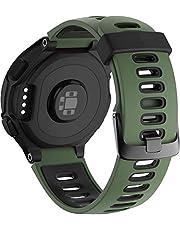 Simpleas siliconen rubberen horlogeband met gesp voor compatibel met Garmin Forerunner 235/735XT/220/230/620/630 Band, waterdichte vervangende band