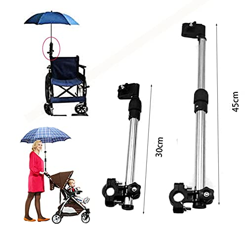 Kangkang@ Baby Stroller Umbrella Holder Pram Wheelchair Adjustable Angle Swivel Bicycle Umbrella Bar Holder Umbrella Clamp