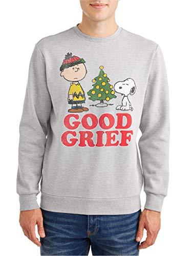 Peanuts Arachidi Uomini a Charlie Brown Buon Natale Dolore Pullover Felpa (Piccolo)