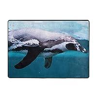 ペンギン印刷カーペット80 * 58インチ、ソフトコージー。 寝室、居間の装飾的な敷物のため