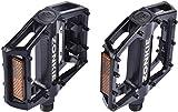 zonkie Fahrradpedale, Plattform/MTB/Flat Pedale mit hochwertigen und Top Grip, E Bike Fahrradpedale aus Alu