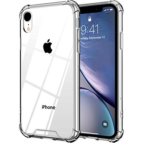 VUP Clear Case Compatible with Apple iPhone XR 6.1 inch (2018) with Enhanced Corners Drop Protection Crystal Clear Phone Cover