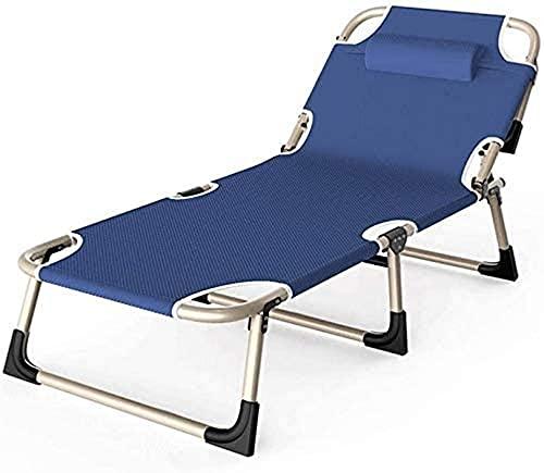 LVJFY Sillas Plegables Sillón reclinable reclinable Ajustable, Silla de jardín, sillas de...