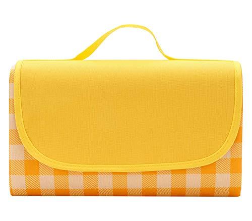 Wasserdichte Outdoor-Decke, sanddicht, übergroß, faltbar, Picknickdecke, Matte, waschbar, dicke Strandmatte für Camping, Wandern, Musik-Festivals (200 x 200 cm)