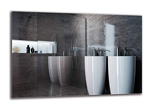 Espejo Standard - Espejo sin Marco - Dimensiones del Espejo 150x100 cm - Espejo de baño - Espejo de Pared - Baño - Sala de Estar - Cocina - Hall - M1ST-01-150x100 - ARTTOR